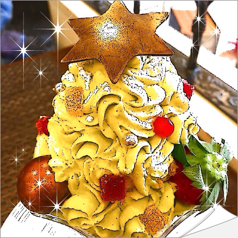 【グルメ探偵】クリスマスツリー風パフェ!